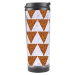 TRIANGLE2 WHITE MARBLE & RUSTED METAL Travel Tumbler Center
