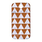 TRIANGLE2 WHITE MARBLE & RUSTED METAL Samsung Galaxy S4 I9500/I9505  Hardshell Back Case Front