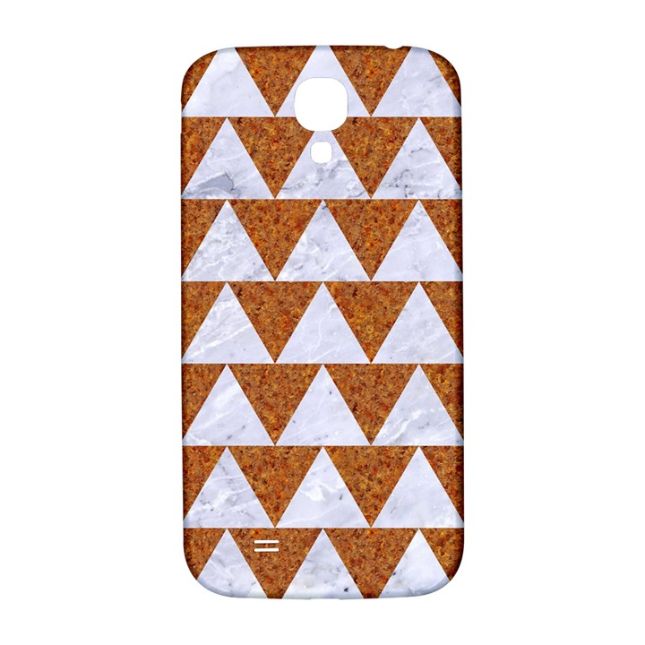 TRIANGLE2 WHITE MARBLE & RUSTED METAL Samsung Galaxy S4 I9500/I9505  Hardshell Back Case