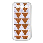 TRIANGLE2 WHITE MARBLE & RUSTED METAL Samsung Galaxy S3 Back Case (White) Front