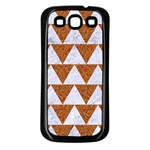TRIANGLE2 WHITE MARBLE & RUSTED METAL Samsung Galaxy S3 Back Case (Black) Front