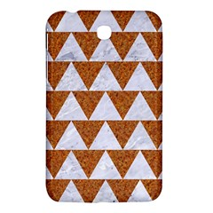 Triangle2 White Marble & Rusted Metal Samsung Galaxy Tab 3 (7 ) P3200 Hardshell Case