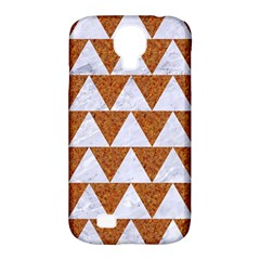 Triangle2 White Marble & Rusted Metal Samsung Galaxy S4 Classic Hardshell Case (pc+silicone)
