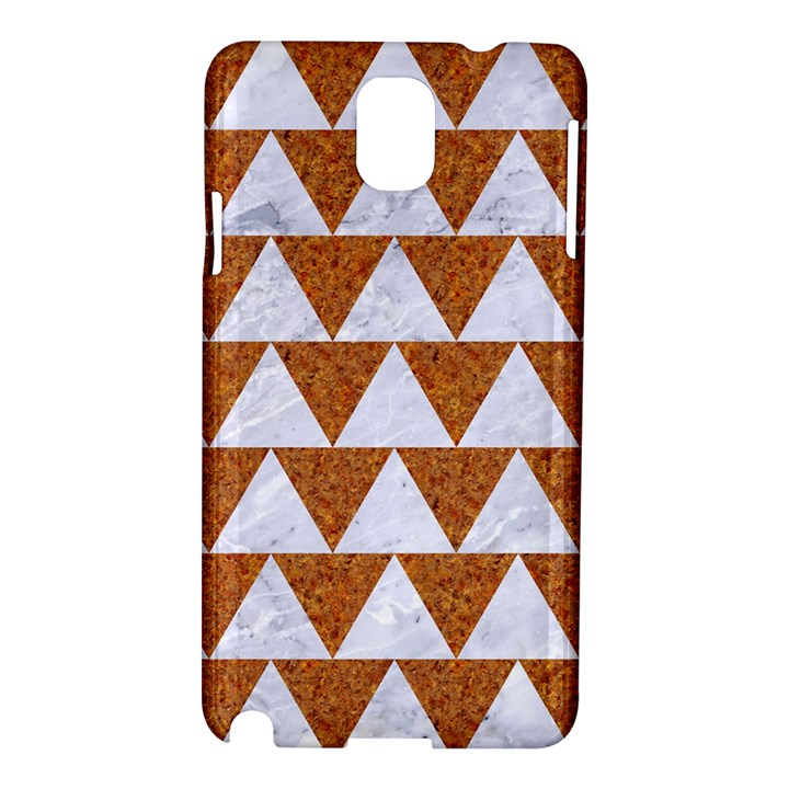 TRIANGLE2 WHITE MARBLE & RUSTED METAL Samsung Galaxy Note 3 N9005 Hardshell Case