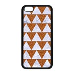 TRIANGLE2 WHITE MARBLE & RUSTED METAL Apple iPhone 5C Seamless Case (Black) Front