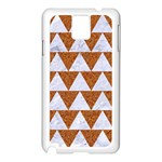 TRIANGLE2 WHITE MARBLE & RUSTED METAL Samsung Galaxy Note 3 N9005 Case (White) Front