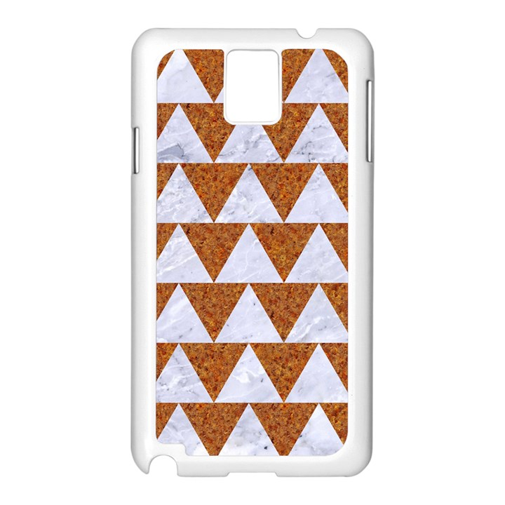 TRIANGLE2 WHITE MARBLE & RUSTED METAL Samsung Galaxy Note 3 N9005 Case (White)