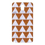 TRIANGLE2 WHITE MARBLE & RUSTED METAL Samsung Galaxy Note 3 N9005 Hardshell Back Case Front