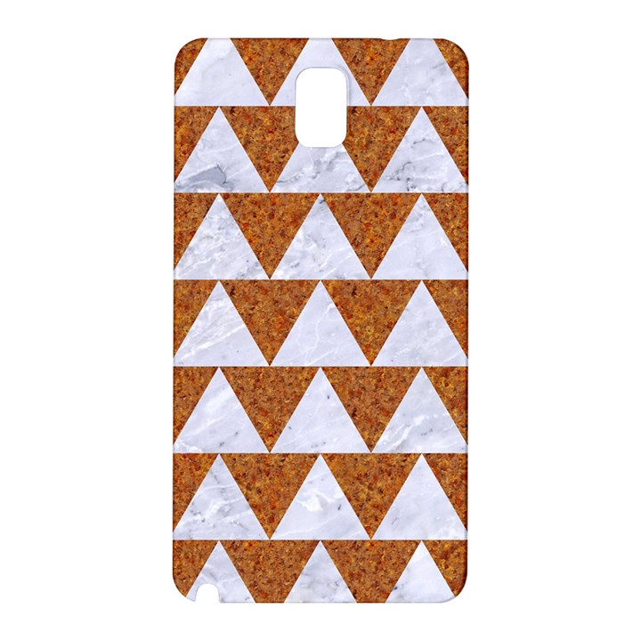 TRIANGLE2 WHITE MARBLE & RUSTED METAL Samsung Galaxy Note 3 N9005 Hardshell Back Case