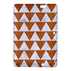 Triangle2 White Marble & Rusted Metal Kindle Fire Hdx 8 9  Hardshell Case
