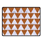 TRIANGLE2 WHITE MARBLE & RUSTED METAL Double Sided Fleece Blanket (Small)  45 x34 Blanket Back
