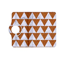 Triangle2 White Marble & Rusted Metal Kindle Fire Hd (2013) Flip 360 Case