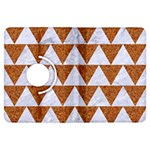 TRIANGLE2 WHITE MARBLE & RUSTED METAL Kindle Fire HDX Flip 360 Case Front