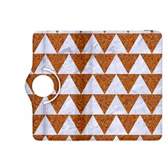 Triangle2 White Marble & Rusted Metal Kindle Fire Hdx 8 9  Flip 360 Case