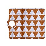 TRIANGLE2 WHITE MARBLE & RUSTED METAL Kindle Fire HDX 8.9  Flip 360 Case Front