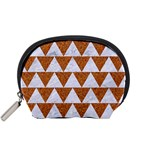 TRIANGLE2 WHITE MARBLE & RUSTED METAL Accessory Pouches (Small)  Front