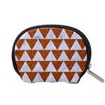 TRIANGLE2 WHITE MARBLE & RUSTED METAL Accessory Pouches (Small)  Back