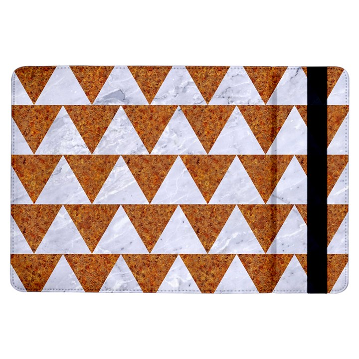 TRIANGLE2 WHITE MARBLE & RUSTED METAL iPad Air Flip