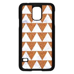 Triangle2 White Marble & Rusted Metal Samsung Galaxy S5 Case (black)