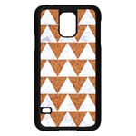 TRIANGLE2 WHITE MARBLE & RUSTED METAL Samsung Galaxy S5 Case (Black) Front