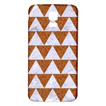 TRIANGLE2 WHITE MARBLE & RUSTED METAL Samsung Galaxy S5 Back Case (White) Front