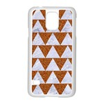 TRIANGLE2 WHITE MARBLE & RUSTED METAL Samsung Galaxy S5 Case (White) Front