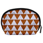 TRIANGLE2 WHITE MARBLE & RUSTED METAL Accessory Pouches (Large)  Back
