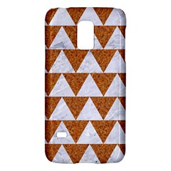 Triangle2 White Marble & Rusted Metal Galaxy S5 Mini