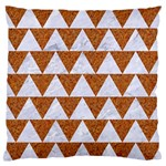 TRIANGLE2 WHITE MARBLE & RUSTED METAL Standard Flano Cushion Case (Two Sides) Back
