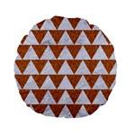 TRIANGLE2 WHITE MARBLE & RUSTED METAL Standard 15  Premium Flano Round Cushions Back