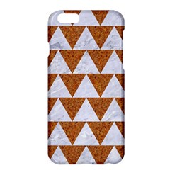 Triangle2 White Marble & Rusted Metal Apple Iphone 6 Plus/6s Plus Hardshell Case