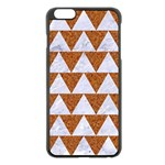 TRIANGLE2 WHITE MARBLE & RUSTED METAL Apple iPhone 6 Plus/6S Plus Black Enamel Case Front