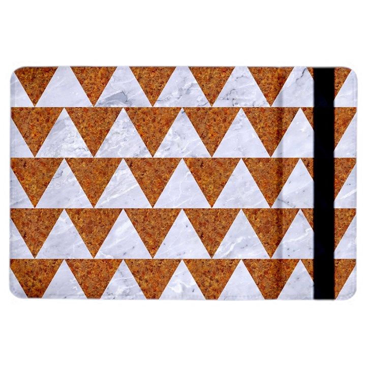 TRIANGLE2 WHITE MARBLE & RUSTED METAL iPad Air 2 Flip