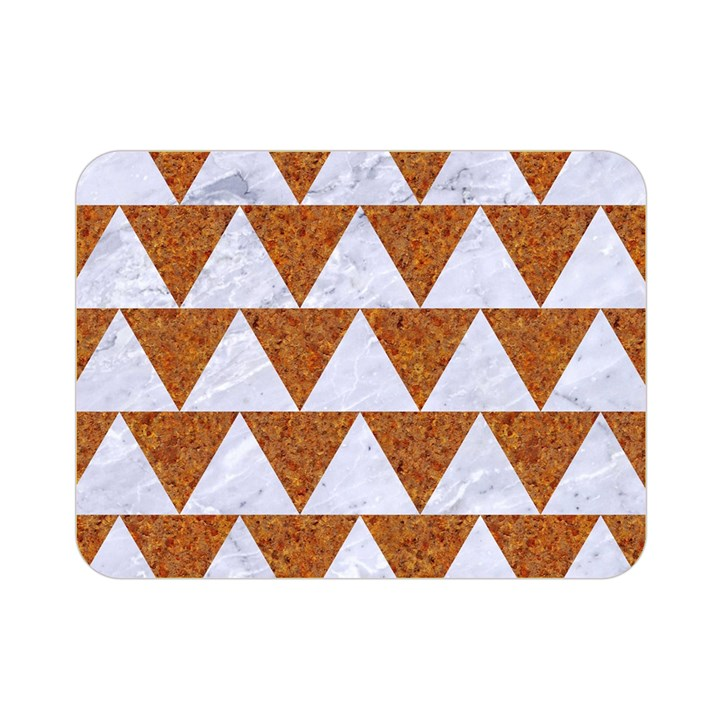 TRIANGLE2 WHITE MARBLE & RUSTED METAL Double Sided Flano Blanket (Mini)