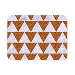 TRIANGLE2 WHITE MARBLE & RUSTED METAL Double Sided Flano Blanket (Mini)  35 x27 Blanket Back