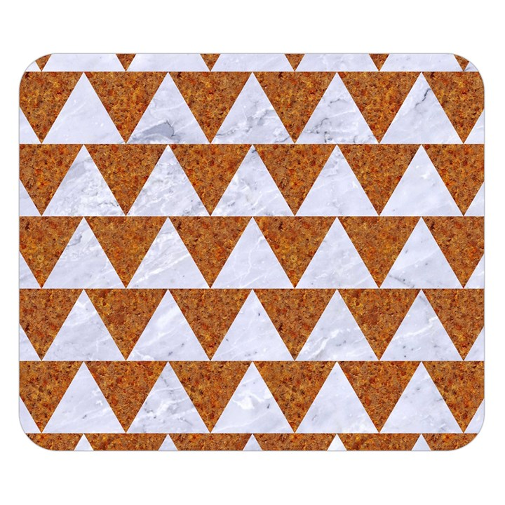TRIANGLE2 WHITE MARBLE & RUSTED METAL Double Sided Flano Blanket (Small)