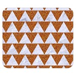 TRIANGLE2 WHITE MARBLE & RUSTED METAL Double Sided Flano Blanket (Small)  50 x40 Blanket Back