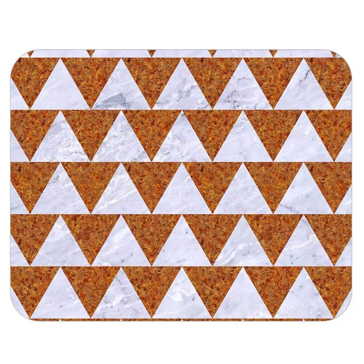 TRIANGLE2 WHITE MARBLE & RUSTED METAL Double Sided Flano Blanket (Medium)