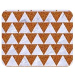 TRIANGLE2 WHITE MARBLE & RUSTED METAL Double Sided Flano Blanket (Medium)  60 x50 Blanket Back