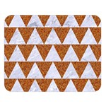 TRIANGLE2 WHITE MARBLE & RUSTED METAL Double Sided Flano Blanket (Large)  80 x60 Blanket Front
