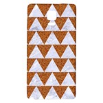TRIANGLE2 WHITE MARBLE & RUSTED METAL Galaxy Note 4 Back Case Front