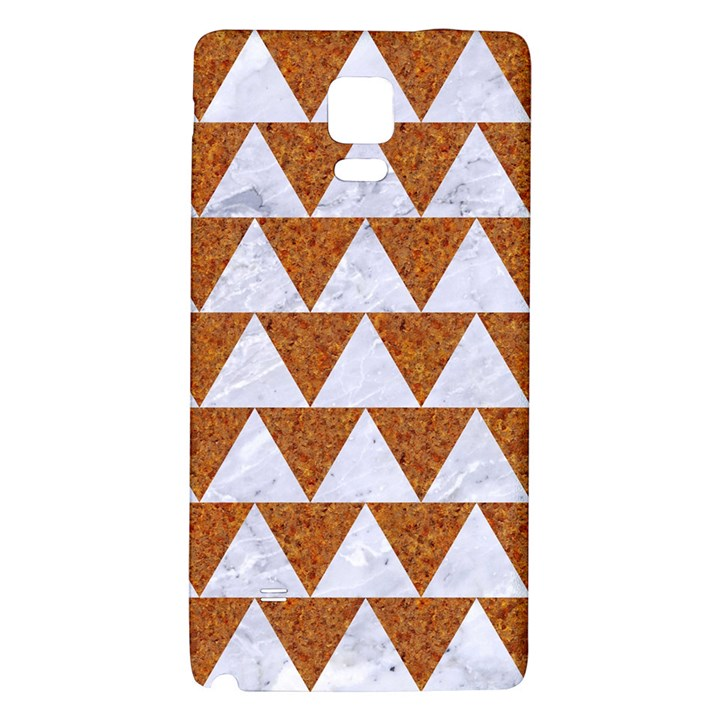 TRIANGLE2 WHITE MARBLE & RUSTED METAL Galaxy Note 4 Back Case
