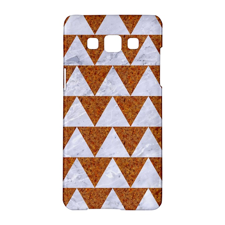 TRIANGLE2 WHITE MARBLE & RUSTED METAL Samsung Galaxy A5 Hardshell Case