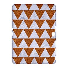 Triangle2 White Marble & Rusted Metal Samsung Galaxy Tab 4 (10 1 ) Hardshell Case