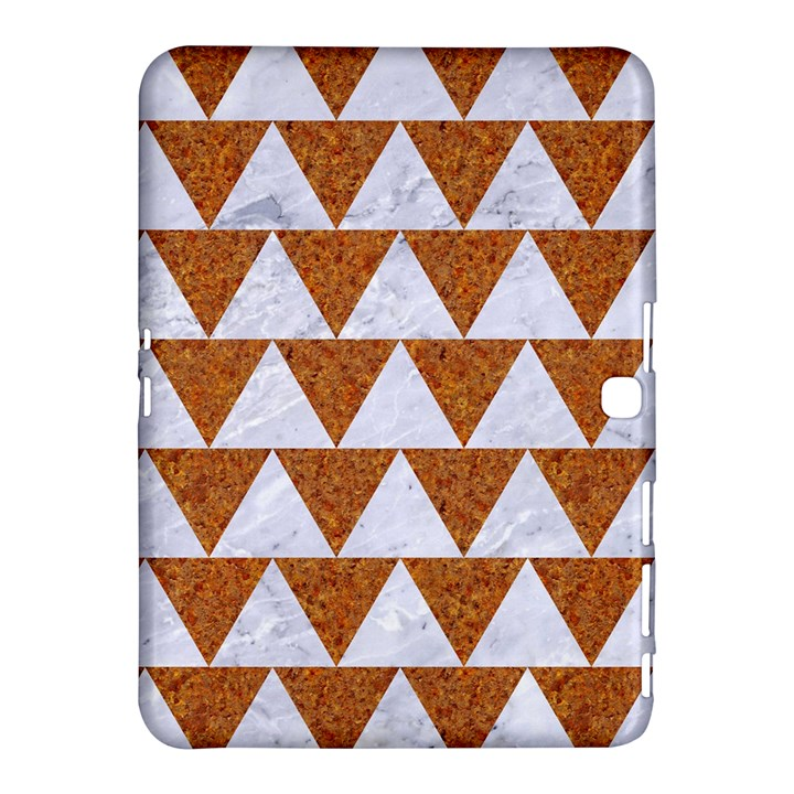 TRIANGLE2 WHITE MARBLE & RUSTED METAL Samsung Galaxy Tab 4 (10.1 ) Hardshell Case
