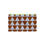 TRIANGLE2 WHITE MARBLE & RUSTED METAL Cosmetic Bag (XS) Front