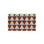 TRIANGLE2 WHITE MARBLE & RUSTED METAL Cosmetic Bag (XS) Back