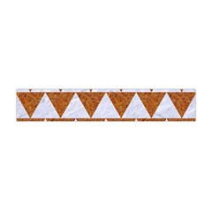 Triangle2 White Marble & Rusted Metal Flano Scarf (mini)