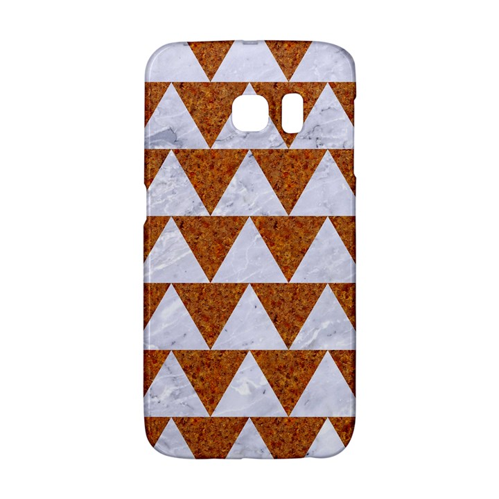 TRIANGLE2 WHITE MARBLE & RUSTED METAL Galaxy S6 Edge
