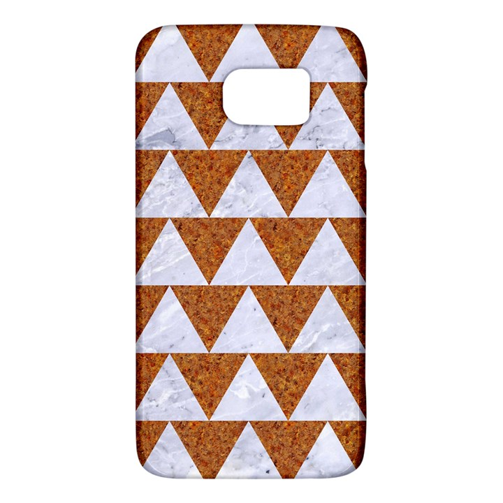TRIANGLE2 WHITE MARBLE & RUSTED METAL Galaxy S6
